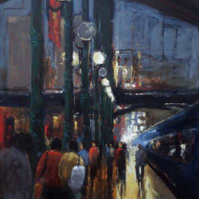 Peinture Fernando Ferreira sur le quai