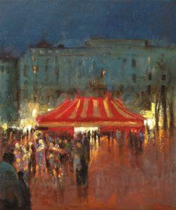 Peinture Fernando Ferreira un soir au cirque