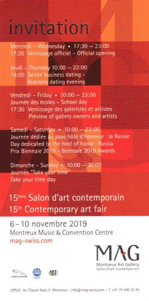 15éme Salon d'art contemporain MAG Montreux Galerie